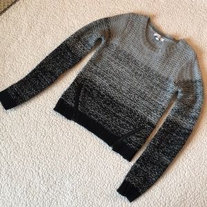 Girls grey and black sweater